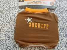 Halloween Sheriff Tee Costume for Dog ~ Brown/Orange ~ Size XS ~ New