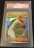 1993 NORM CHARLTON TOPPS FINEST REFRACTOR #178  PSA 9 MARINERS