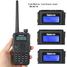 Retevis RT5 Dual Band CTCSS/DCS 2500mAh 1750Hz 128CH 8W VOX FM Two Way Radio US