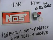 NOS/NITROUS/EDELBROCK/HOLLEY/BIGSHOT-CHEATER-POWERSHOT-FOGGER 4AN BOTTLE NUT KIT
