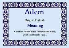 Adem personalizzata nome significato certificato