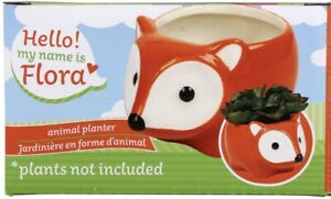 Flora the Fox Ceramic Animal Planter Pot for Succulents or Small Plants