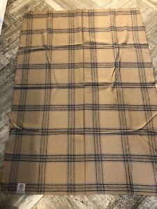 Vintage ALASKA AIRLINES Woven Wool Plaid Blanket