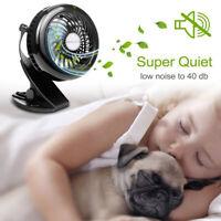 Mini Ventilateur à Pince Ventilateur de Bureau USB  pour Poussette Voiture