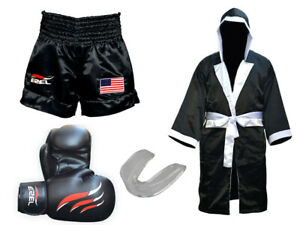 Kick Boxing MMA Shorts UFC, Boxing Robe, Boxing Gloves and Mouth Gaurd