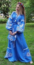 Ukrainian Embroidered Dress Vita Kin Style Vyshyvanka embroidery with bag