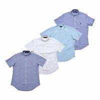 Ralph Lauren Mens Buttondown Shirt Short Sleeve Seersucker New Nwt Xs S M L Xxl