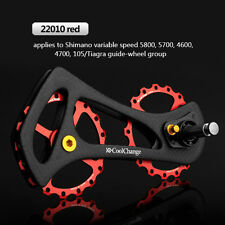 Rear Derailleur Ceramic Bearing Pulley Wheel Kit 17T Carbon Fiber for 5800 4700