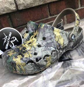 New Crocs Men's Baya Realtree Xtra Camo Printed Clogs