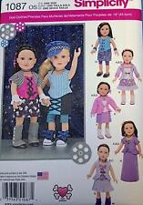 New Pattern 1087 Doll Clothes Steampunk+Rock+Victorian fit 18 inch American Girl