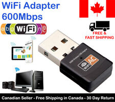 USB WiFi Wireless Adapter Network 600Mbps Dual Band For Windows Mac 802.11AC
