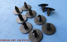 10 X ROVER 75 BLACK Fir Tree Interior Door Cards Panel Moulding Trim Clips