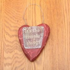 Its The Simple Things Heart Rustic Wall Plaque House Hanging Chic
