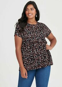 ts Taking Shape Virtuelle Top Size M Organic Abstract  Style NWT
