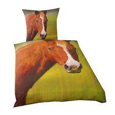 Linge de lit LISSE PONEY / cheval prairie 135 x 200 cm cadeau NOUVEAU