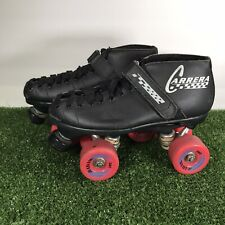 RIEDELL CARRERA SPEED ROLLER SKATES SIZE 7 BLACK LEATHER