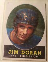 1958 Topps #43 Jim Doran Detroit Lions Very Good Condition