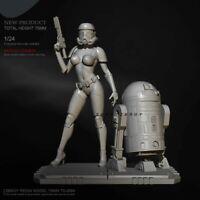 3D Sand Trooper Sexy Cara Dune Star Wars Black Series Resin Action Figure Statue