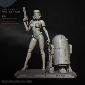3D Sand Trooper Sexy Cara Dune Star Wars Black Series Resin Action Figure Statue