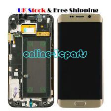 UK Fr Samsung Galaxy S6 Edge G925F LCD Display Touch Screen Digitizer Frame Gold