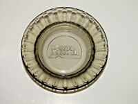"Vintage Howard Johnson Ashtray Round Smokey Glass Advertising 4.5"" Diameter"