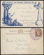 """1893 Forestry Exhibition Card Fine Used """"Just shot the chutes at Boytons"""" Rare"""