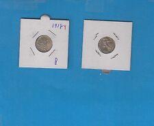 ++Gertbrolen 50 Centimes argent  type Semeuse 1917   Exemplaire numéro 4