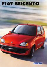Fiat - Seicento - Sporting  - Elettra - Prospekt  -  Deutsch - nl-Versandhandel