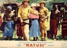 Lobby Card 1959 WATUSI G Montgomery Taina Elg MGM