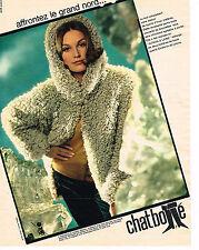 PUBLICITE ADVERTISING 054  1963  LE CHAT BOTTE  création alpaga & laine