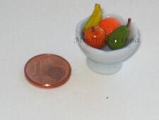 Cuenco frutas en fimo miniatura 1/12 casas muñecas
