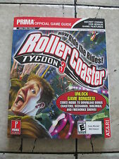 Prima Official Game Guide Roller Coaster Tycoon 3 Video Game Paperback Book