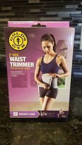 "Golds Gym, Waist Trimmer, 8 inch wide, Fits up to 50"" Waist, Neoprene, Brand New"