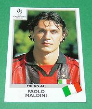 N°293 PAOLO MALDINI MILAN AC ITALIA PANINI FOOTBALL CHAMPIONS LEAGUE 1999-2000