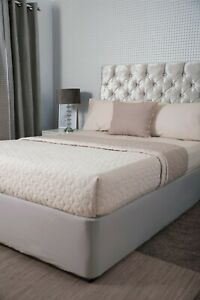 Jersey Cotton Divan Bed Base Wrap Valance in Pale Grey to Fit Upto 45cm Base