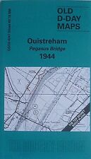 1944 D-DAY MAP OUISTREHAM PEGASUS  BRIDGE - BIGOT PLAN