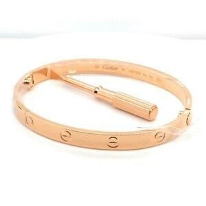 Genuine Cartier Love Bracelet 18k Rose Gold Size 19 Ref B6035617 2020 Box Papers