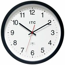 "Infinity Instruments ITC Radio-Controlled Atomic Business Wall Clock, 14"" Round"