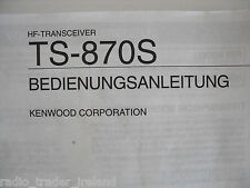 Kenwood TS-870S (allemand) (genuine manuel uniquement)... radio _ trader _ irlande.