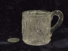 U Rare c.1830 Sandwich Child's Toy Pressed Clear Lacy Flint Glass Heart Lemonade