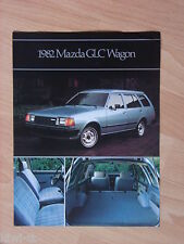 Mazda GLC Wagon 1982 (= 323 Kombi) Prospekt / Brochure / Depliant, USA