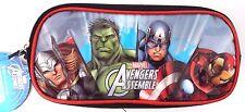Marvel Avengers Assemble Boy's School Double Compartment Pencil Case NWT