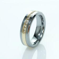 Tungsten Carbide 14K Gold Diamond Ring