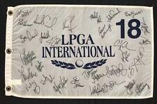 30 LPGA Pros Signed Autographed LPGA 2005 International Pin Flag W/COA