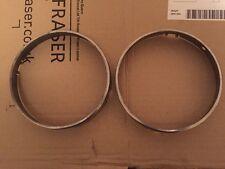 Genuine Alfa Romeo Alfasud Sprint Chrome Headlight Headlamp Surrounds- No Reserv