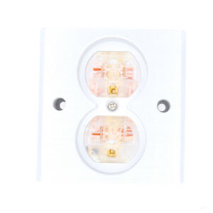 2pcs Transparent Power US AC Power Receptacle Wall Outlet Copper So