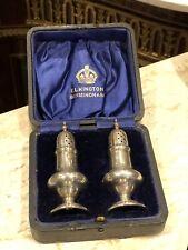 More details for hallmarked silver & hallmarked salt & pepper in original box.