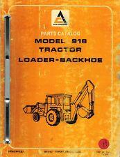 ALLIS CHALMERS 918 TRACTOR LOADER BACKHOE  PARTS CATALOG  MANUAL