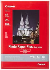 NEW!! Canon SG-201 Photo Paper Plus A4, 20 Sheets FREE UK DELIVERY!!