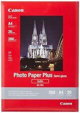 Nuevo!! papel fotográfico Canon SG-201 Plus A4, 20 Hojas Entrega UK LIBRE!!